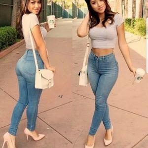 😁New Arrival😁 Denim Skinny Jeans High Waisted